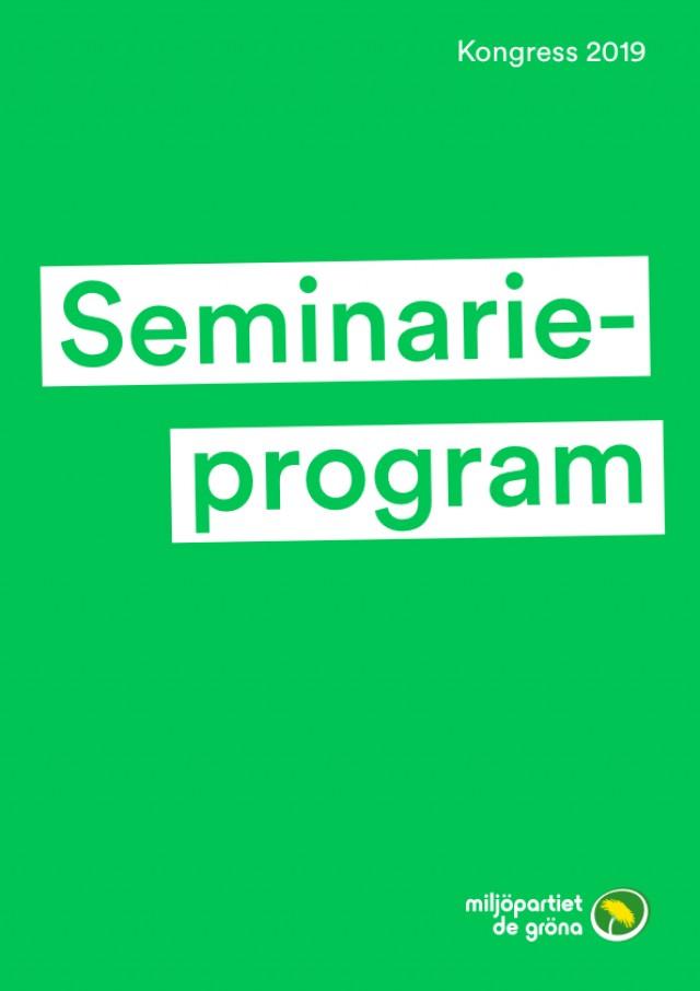 Här är alla öppna seminarier på Miljöpartiets kongress